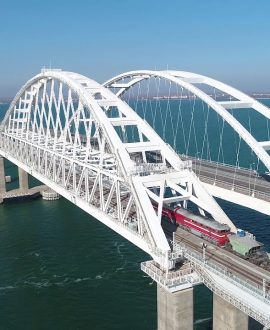 After entering the Crimean bridge, cargo transportation to Crimea fell by a third